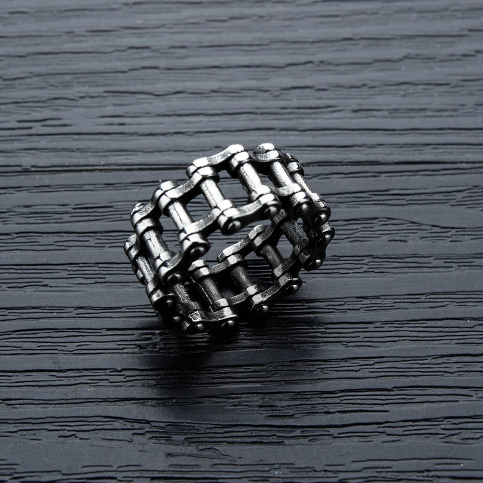 Stainless steel motorcycle chain ring bracelet