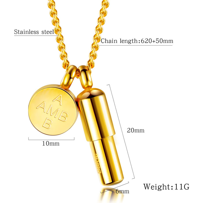 Openable net celebrity round brand capsule pills ladies necklace