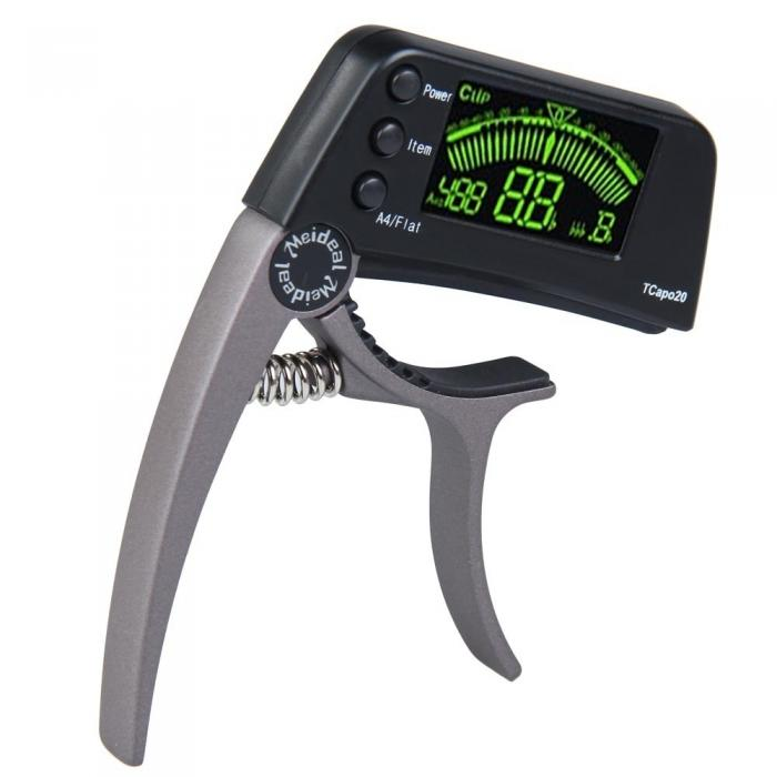 LCD Electronic Guitar Capo Tuner