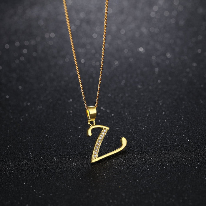 Simple personality letter necklace classic ladies clavicle chain