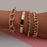 4Pcs/Set Hip Hop Chunky Thick Miami Curb Cuban Bracelets Bangles Punk Metal Twisted Rope Chain Bracelet Jewelry Gift