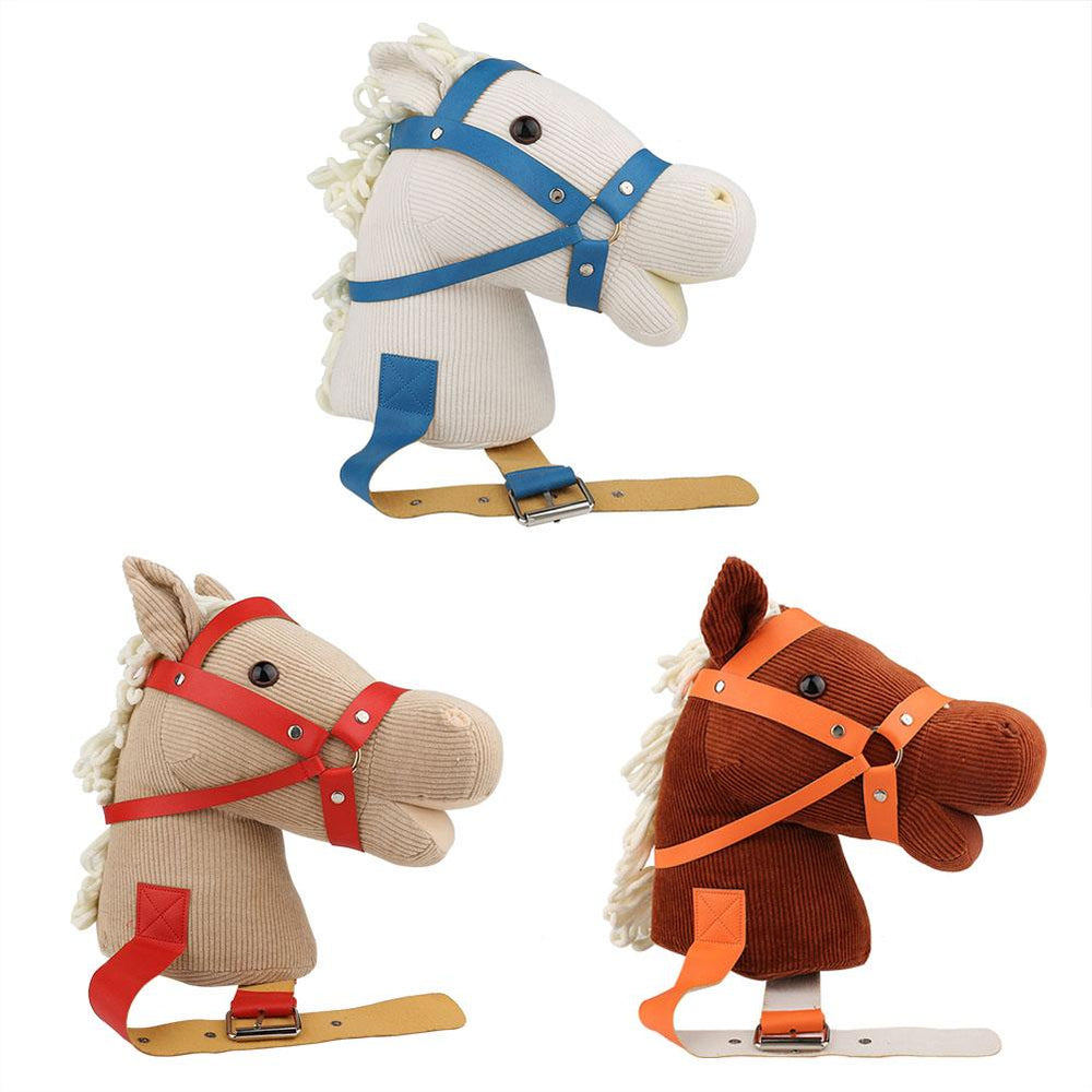 Simulation Cotton Horse 's Head with Tie Animal Clip-clop Sound