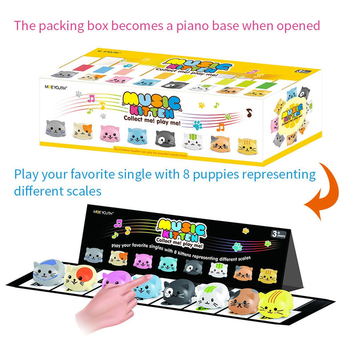8pcs Musical Scale Touch Sensitive Toy