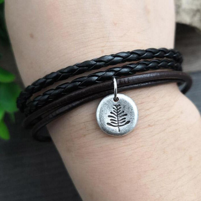 SanLan camping jewelry Outdoor Gifts Lovely  Pine Tree bracelet under the mountain hiking jewelry