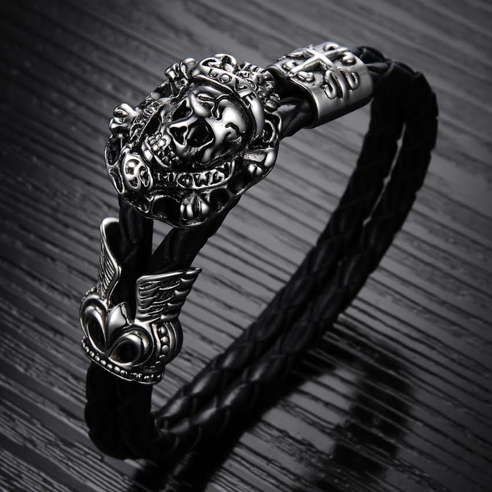 Pirate Skull Men's Bracelet - Florence Scovel - 3