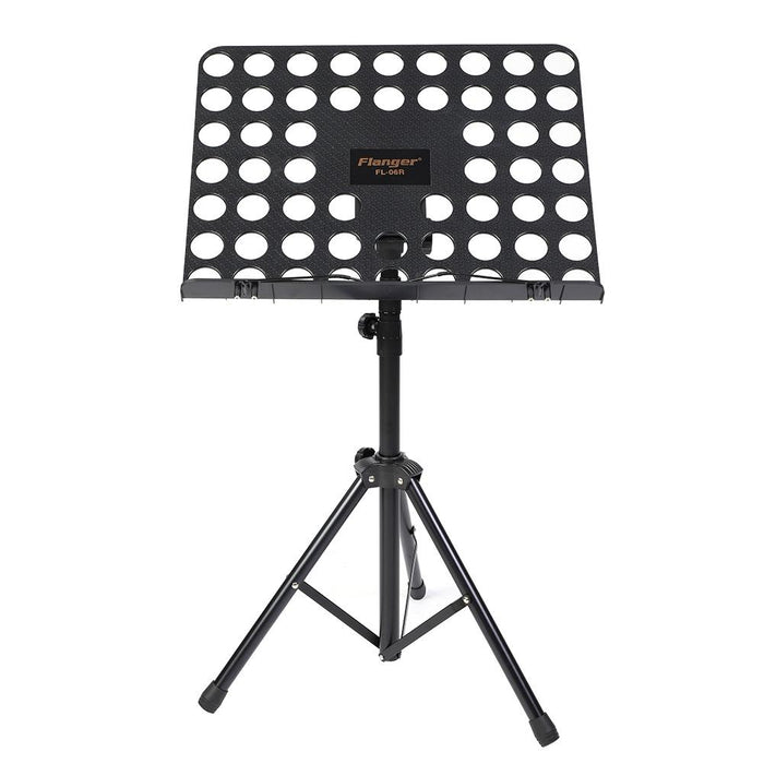 Flanger Music Book Stand Folding Musical Paper Sheet Bracket Black