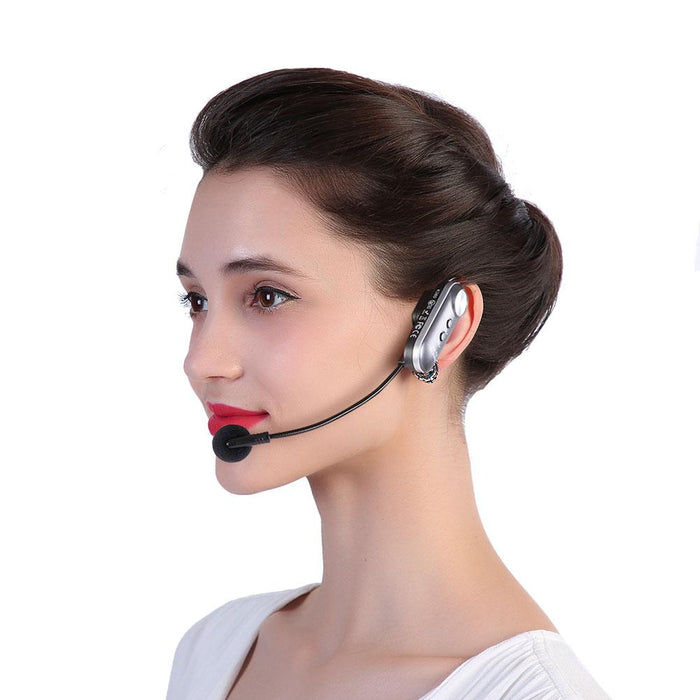 New Bluetooth Head-mounted Wireless Microphone Mic FM Transmission