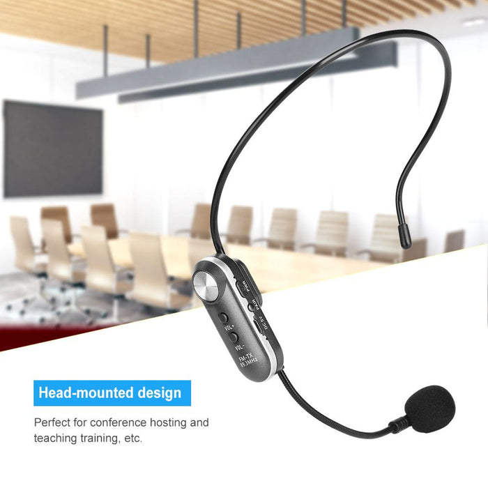 Bluetooth Head-mounted Wireless Microphone Mic FM Transmission
