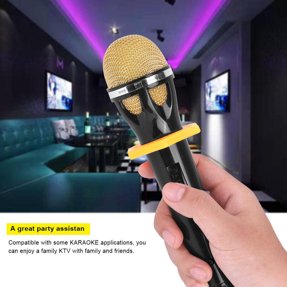 Portable Handheld Wireless Microphone System with Receptor Audio Cable USB Charging