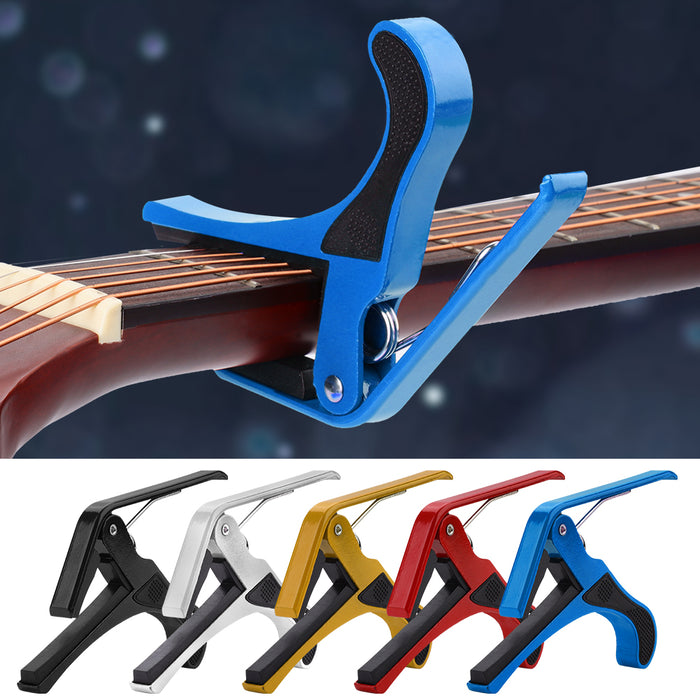 Clamp Capo Gear for Acoustic Folk Guitar