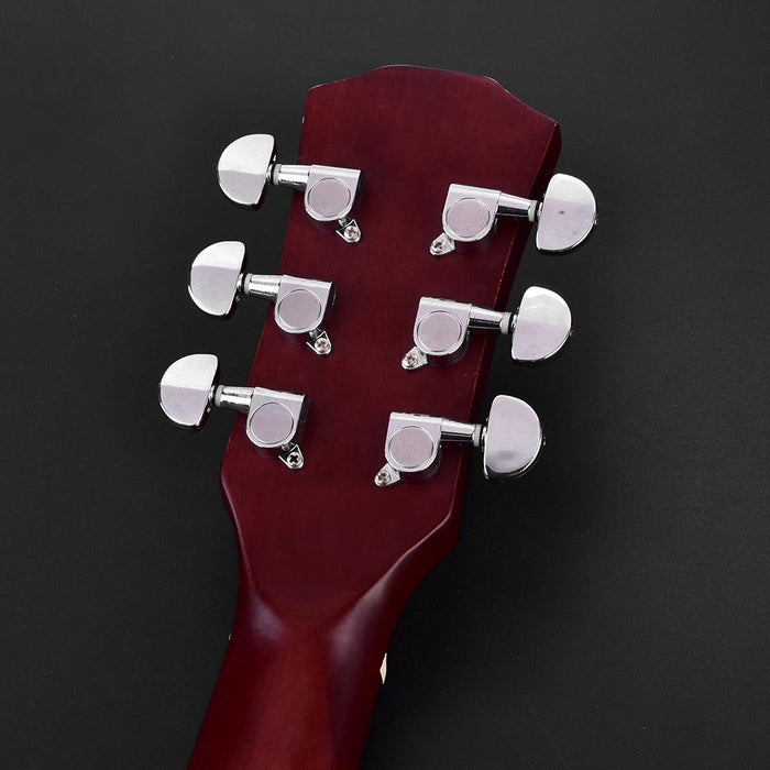 Guitar Tuning Pegs Locking Tuners Zinc Alloy Machine Heads Silver