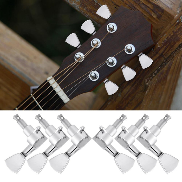 Guitar Tuning Pegs Locking Tuners Zinc Alloy Machine Heads for Guitar Silver