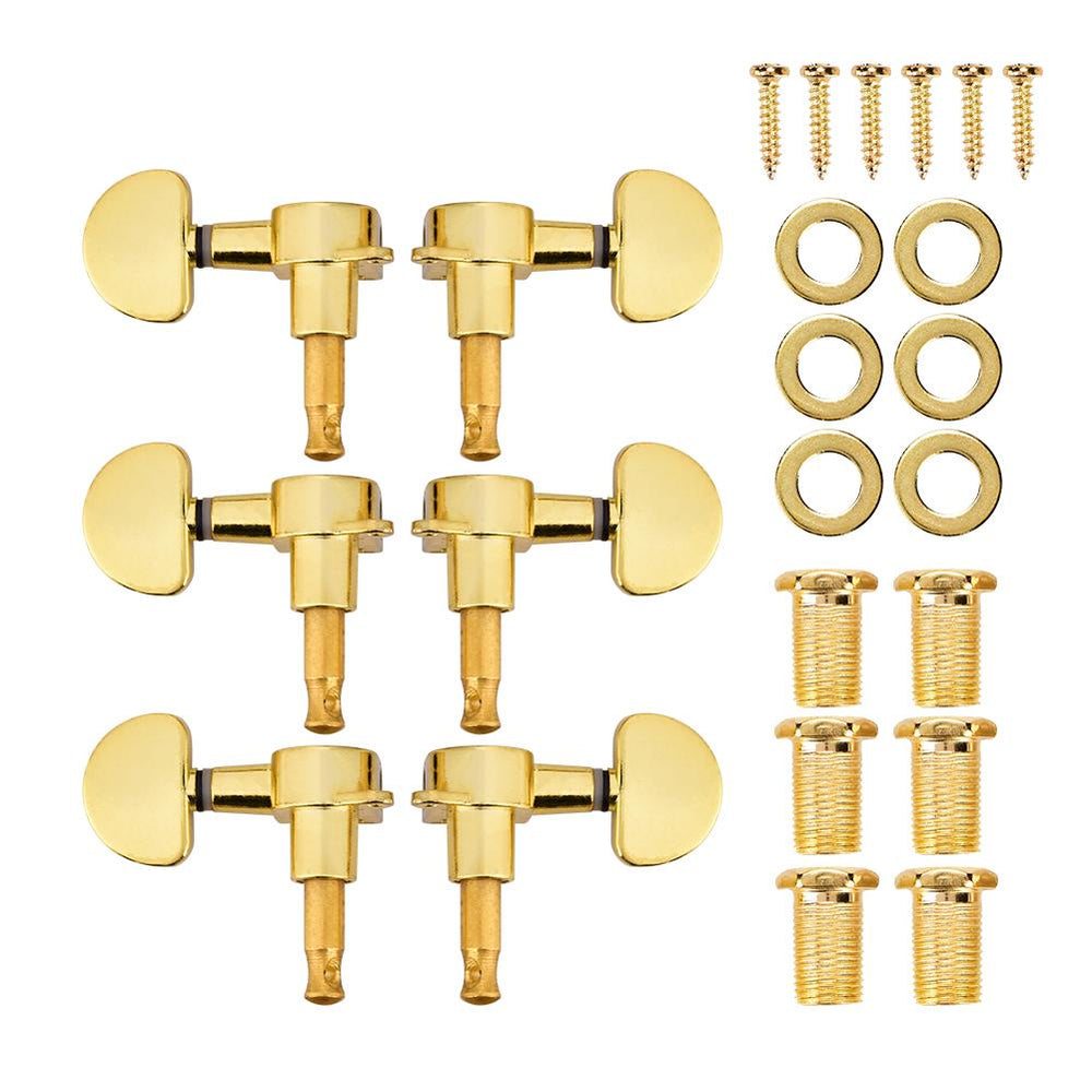 Guitar Tuning Pegs Locking Tuners Zinc Alloy Machine Heads for Guitar Gold