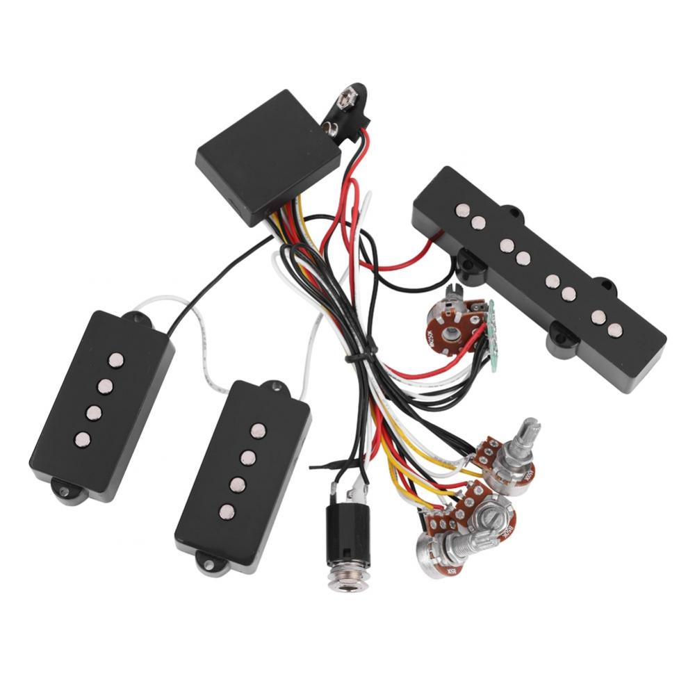 Electric Bass Preamp Wiring Circuit Pickup