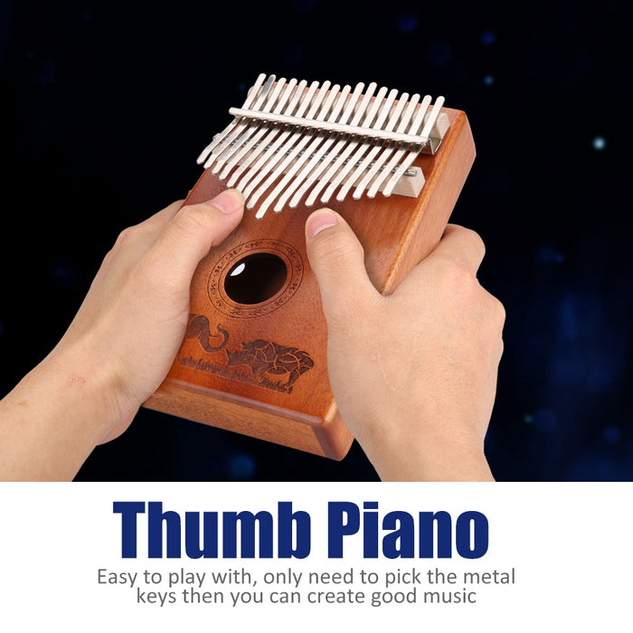 17 Keys Bamboo Thumb Piano