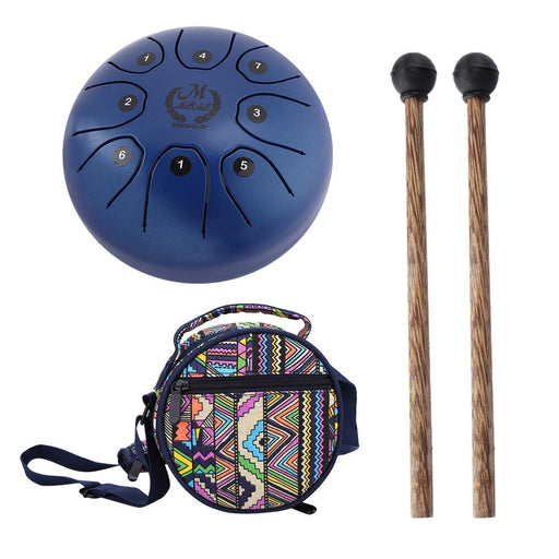 Perfect Quality Hand Pan Handpan Tongue Tank Drum 5.5 Inch Percussion(Blue)