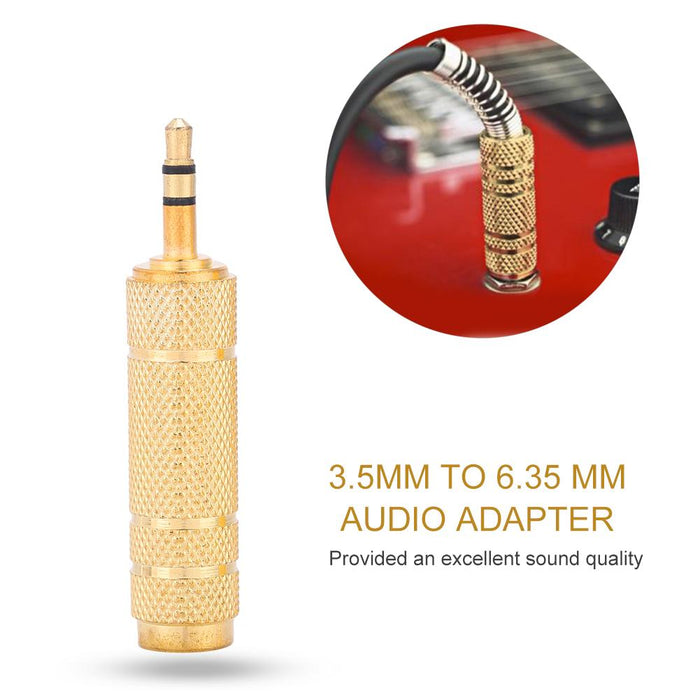 2pcs 3.5mm Male to 6.35mm Female Audio Adapter