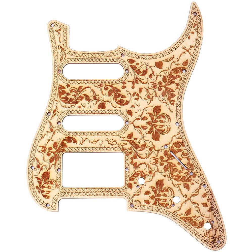 Maple Wooden Engraving Vintage Style Pickguard