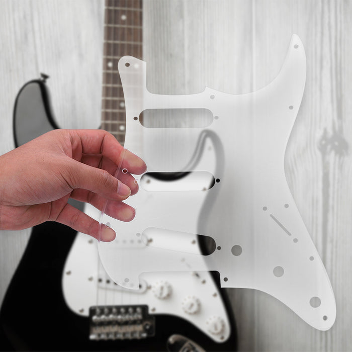 12 Hole Transparent Acrylic Pickguard