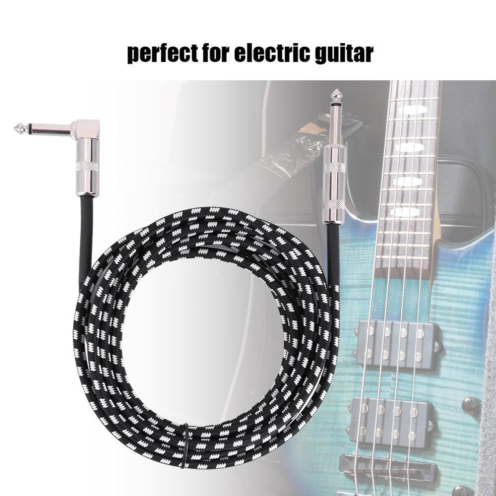 6.35mm Electric Guitar Audio Extension Cable 3 Meters Length Music Instrument Accessory