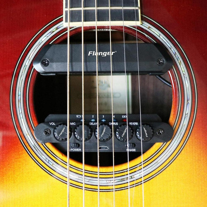 R2 Resonance Pickup with Endpin Jack Effect Regulator Speaker for Acoustic Guitar