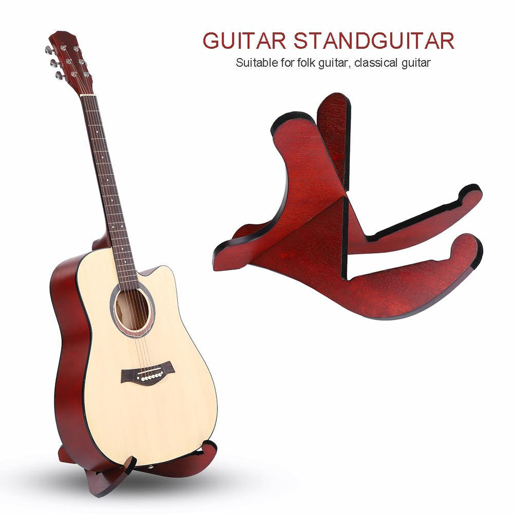 Detachable Space-Saving Wooden Wood Stand Mount Rack for Folk Classical Guitar