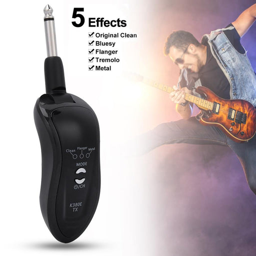 K380E Multifunction Rechargeable Wireless Guitar Transmitter Receiver