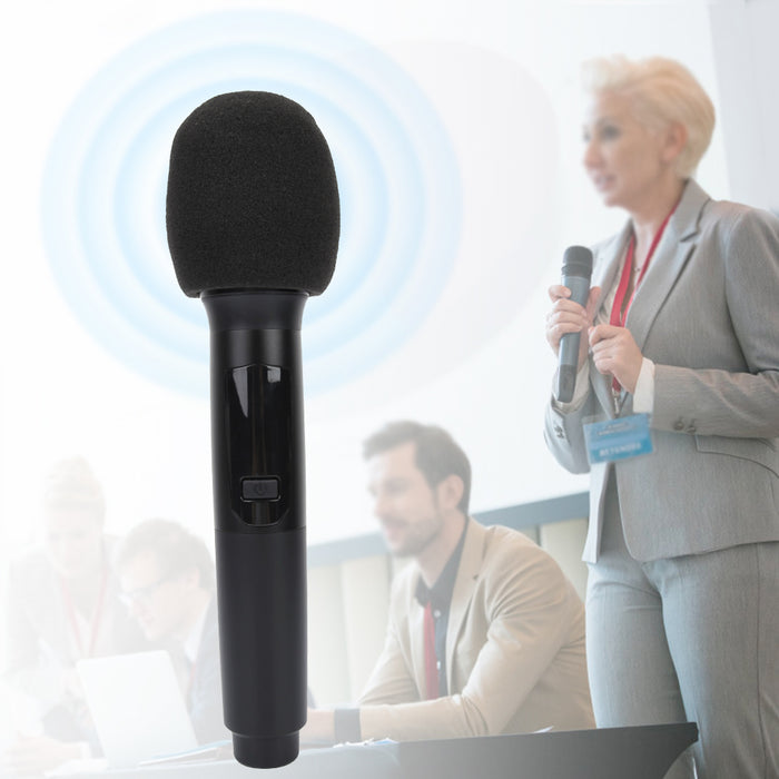 UHF Wireless Audio Mic Set Rechargeable Handheld Microphone