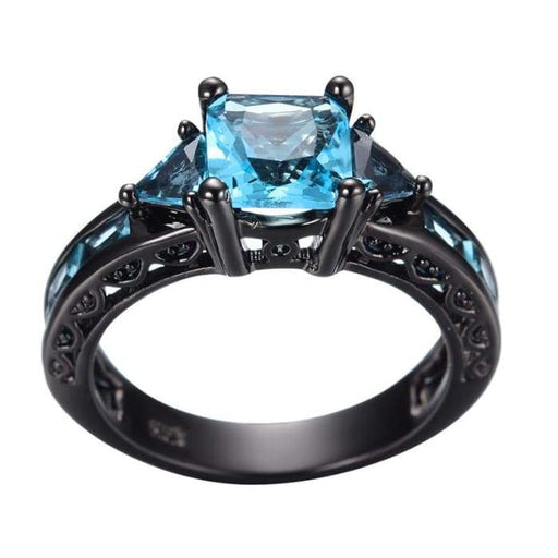 """Aquamarine Purity"" Ring"