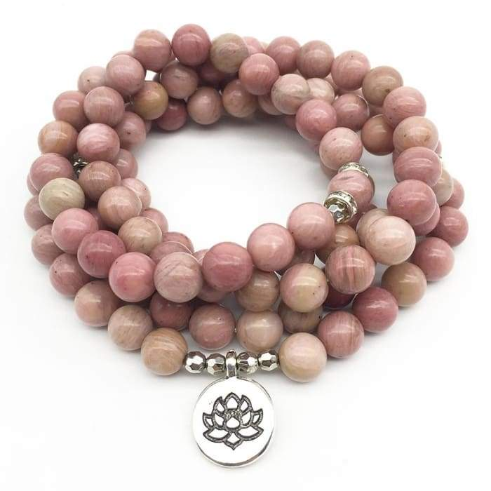 "Mala Bracelet ""Mastery of Emotions"" in Rhodonite"