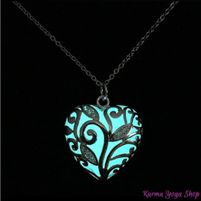 "Necklace ""Illuminated heart"""