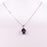 "Necklace and Pendant ""Beautiful Amethyst"" in 925 Silver"