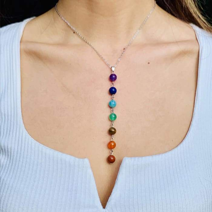 "Necklace ""Pearls of the 7 Chakras"""