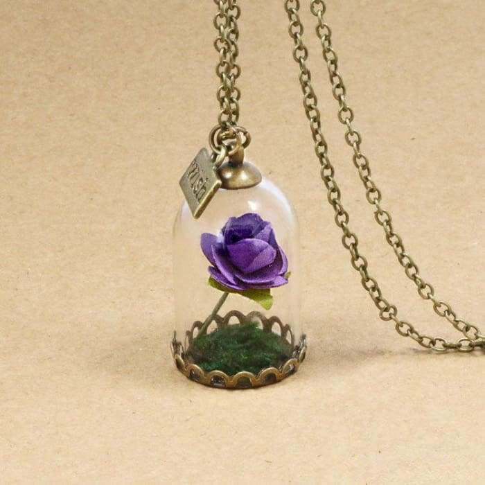 "Necklace ""Eternal Rose"" - 6 colors available"