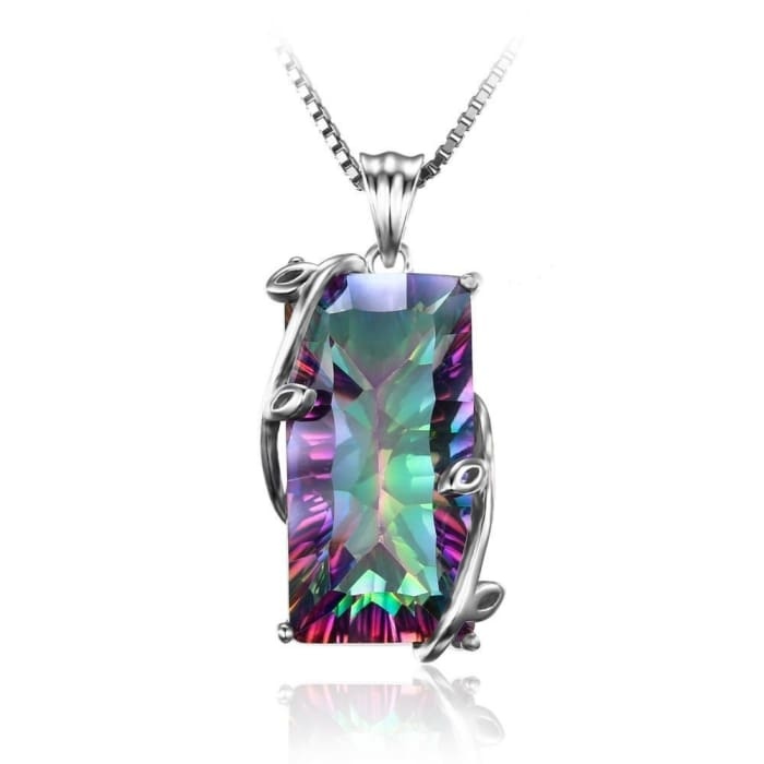 """Creative Expression and Abundance"" Pendant in Rainbow Mystic Topaz"