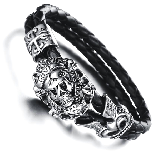 Pirate Skull Men's Bracelet - Florence Scovel - 1