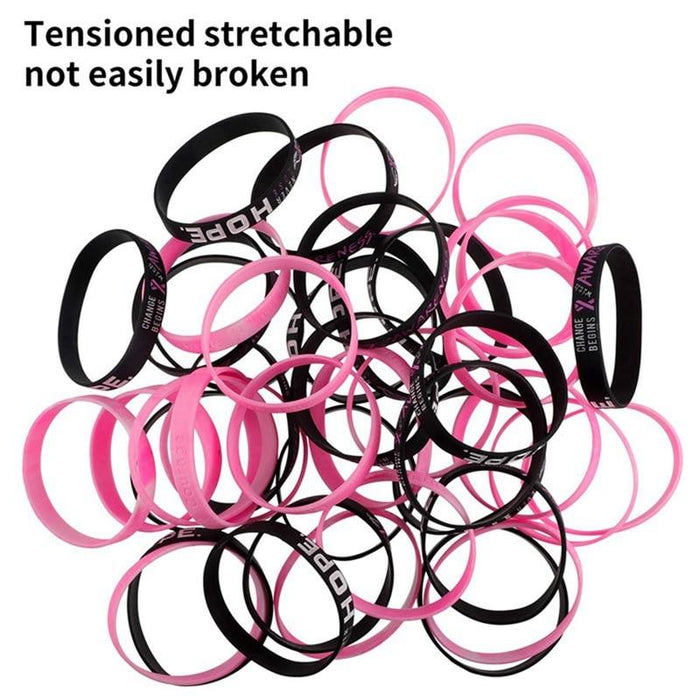 Breast cancer awareness ribbon wristband