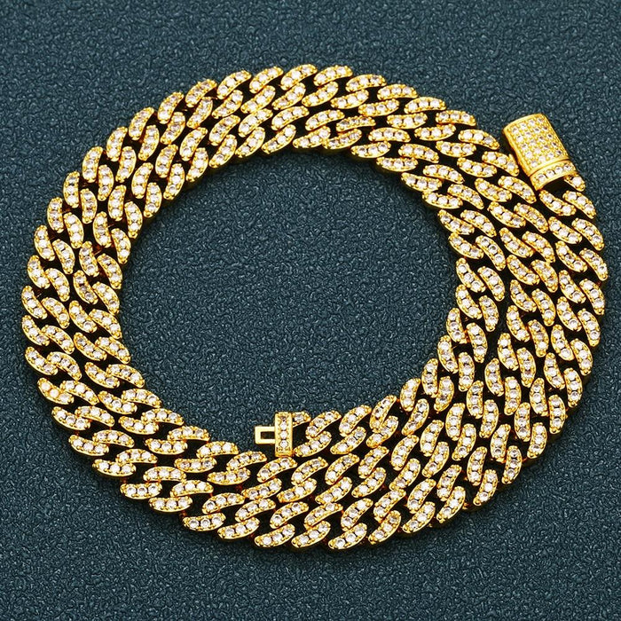 6MM Iced Out Cuban Chain Necklace- Men's Hip Hop Jewelry
