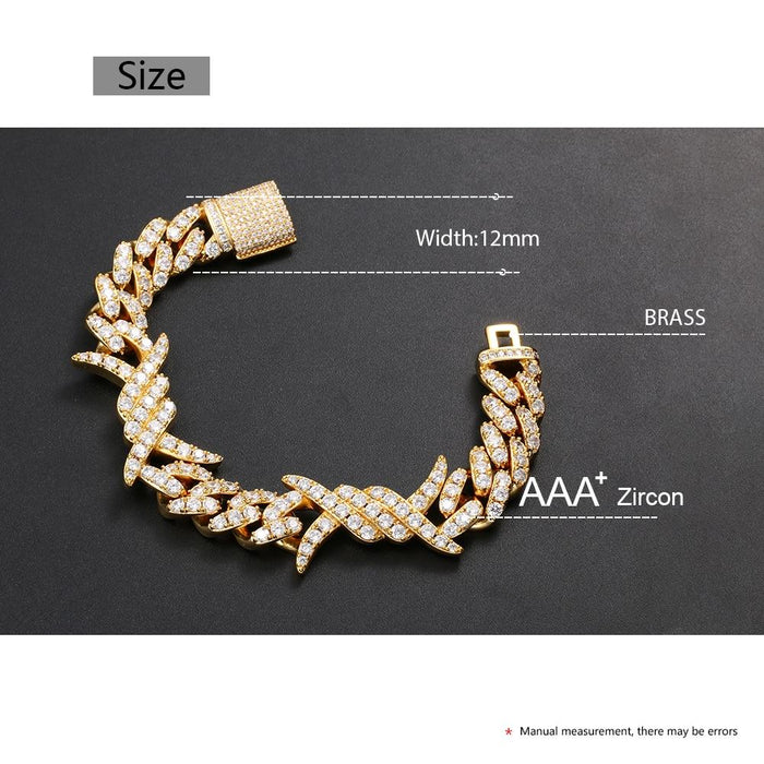 Iced Out Hip Hop CZ Bracelet- Men's Hip Hop Jewelry