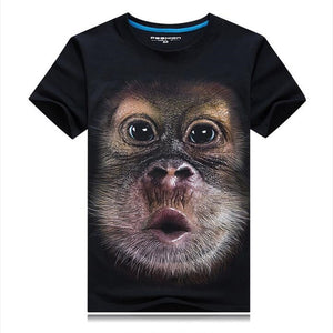 Mens/Womens Gorilla Monkey Toot Funny 3D Print Casual T-Shirts