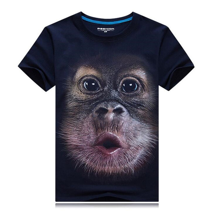 3D Gorilla FunnyPrint Casual T-Shirts