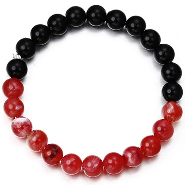New Fashion and Simple Classic Round Bead Charm Bracelets & Bangles For Men