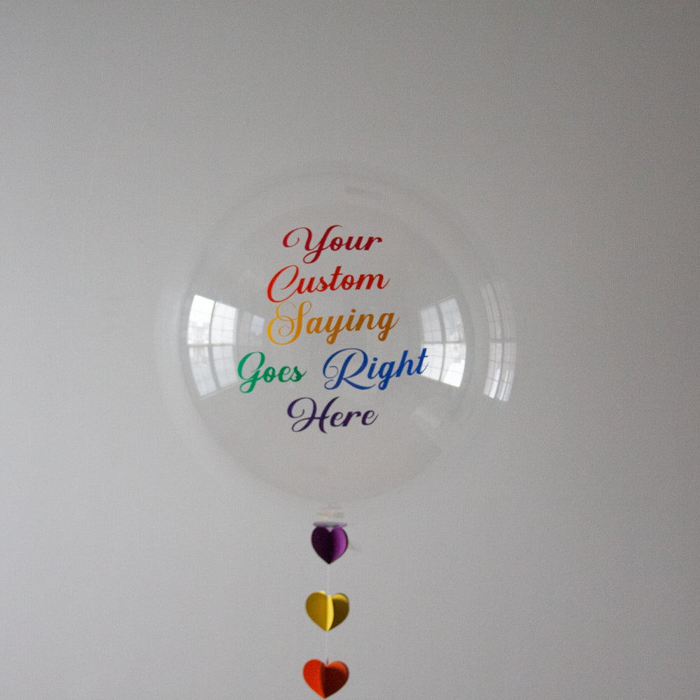 balloon not included Personalised vinyls for latex balloons