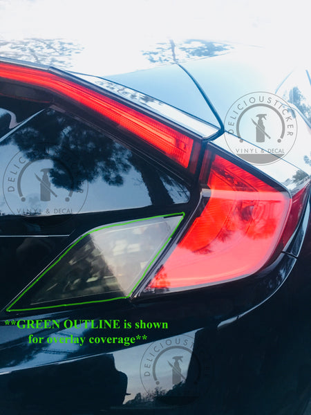 Smoked Tail Light Insert Overlays (Fits For: 2016-2020 Honda Civic Coupe)