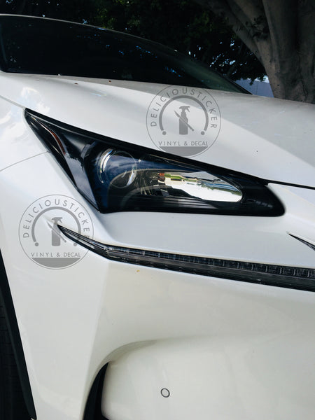 Smoked Front Headlight Reflector Portion Overlay (Fits For: 2015-2017 Lexus NX)