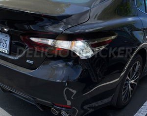 Smoked Tail Light Overlays (Fits For: 2018 + Camry)