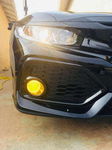 Fog Light Insert (Fits For: 2016-2020 Honda Civic)