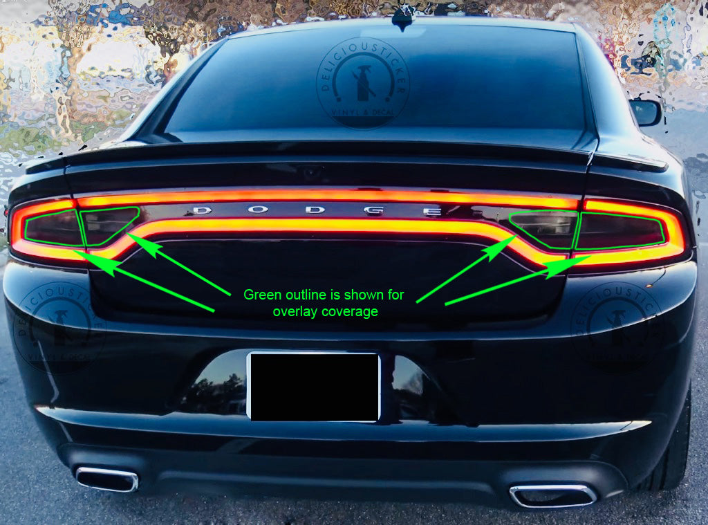 Smoked Tail Light Inner Overlays Fits For 2015 2020