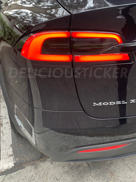 Smoked Tail Light Insert Overlays (Fits For: Tesla Model X)