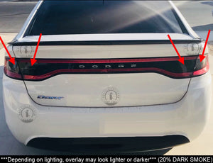Smoked Tail Light Inner Overlays (Fits For: 2013-2016 Dodge Dart)
